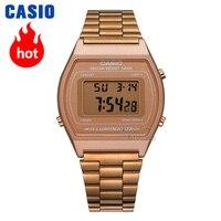 Часы Casio Analogue Женские кварцевые спортивные часы Винтажные розовые золотые водонепроницаемые часы