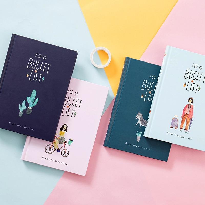 2019 koreanische 100 Eimer Zu Tun Liste Wünschen Liste Kawaii Nette Blume Bunte Boxed Täglichen Planer Schule Bürobedarf Stationären a5