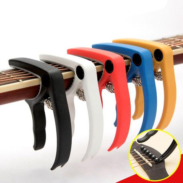 שרף גיטרה קאפו שינוי מהיר מהדק מפתח עבור 6 מחרוזת אקוסטית קלאסי גיטרה חשמלית כוונון מהדק מכשיר אבזרים