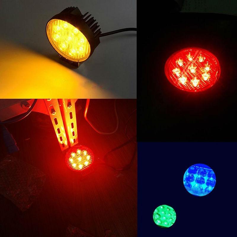 27W Spot Roșu Amber Galben-Albastru Verde Rotund Lucrare LED-uri - Faruri auto - Fotografie 5