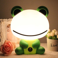 Desk Night Lights Baby Room Panda Rabbit Dog Bear Cartoon Night Light Kids Bed Lamp Sleeping