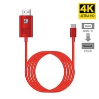 4 K USB 3,1 USB-C Тип C к HDMI кабель HDTV HDMI адаптер для lenovo ThinkPad X1 2018 MacBook Pro samsung S8 S9 NOTE8