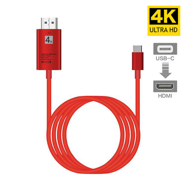 K USB 3.1 USB-C 4 Tipo C para HDMI HDTV cabo Adaptador hdmi para Lenovo ThinkPad X1 2018 MacBook MacBook pro samsung S8 S9 NOTE8
