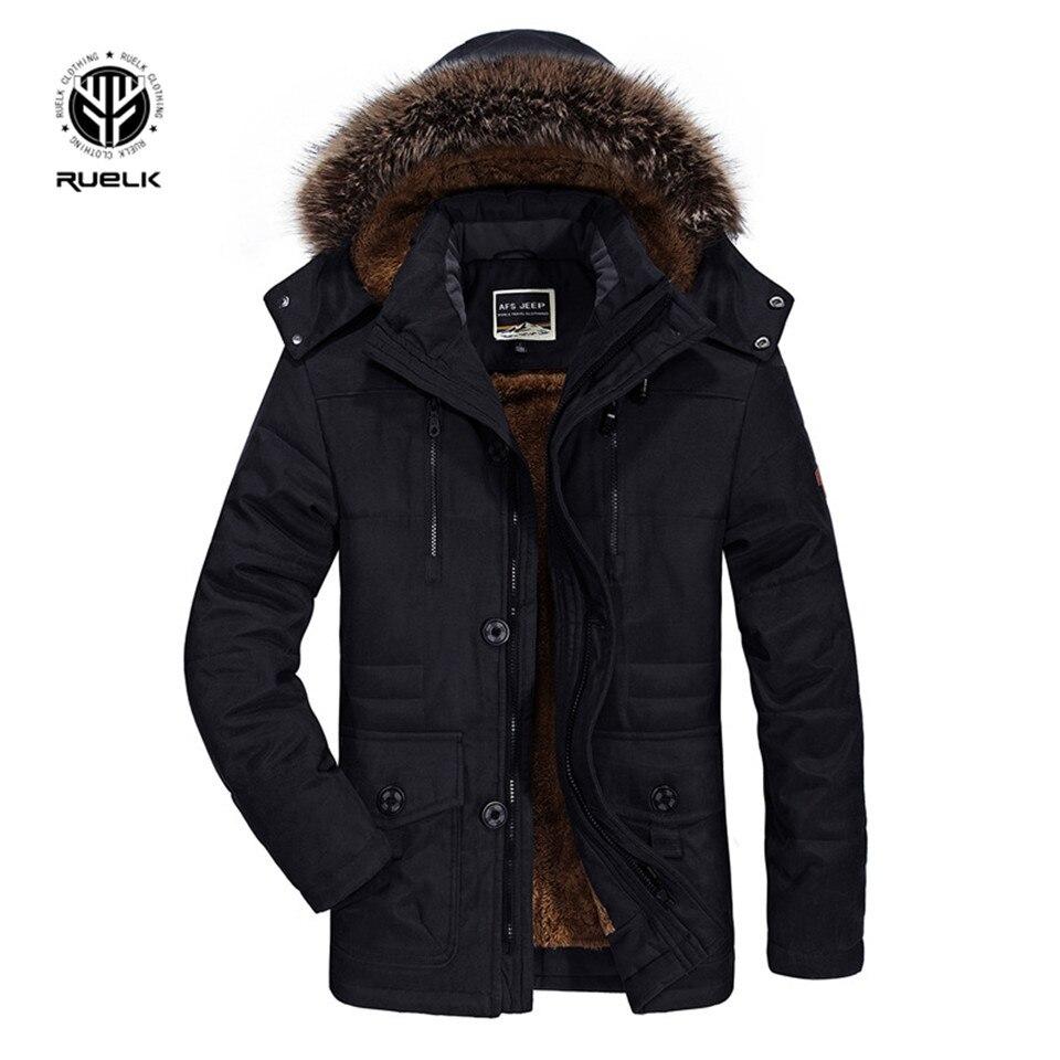 Nouvelle veste d'hiver hommes-15 degrés épaissir chaud hommes Parkas à capuche polaire hommes vestes Outwear coton manteau Parka Jaqueta Masculina