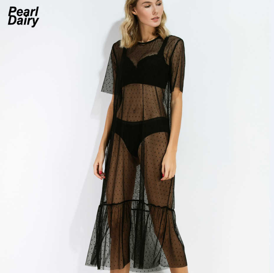 38f5241847 Detail Feedback Questions about Black Sheer Sexy Women Beach Bikini Cover Up  Lace Mesh See Through Swimsuit Swimwear Cover Up Summer Dress Vestidos  Pareo on ...