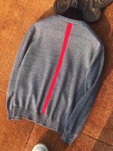 Image 3 - Il trasporto libero nuovo Casual inverno O Collo pullover di lana morbida uomini sweather rosso grigio