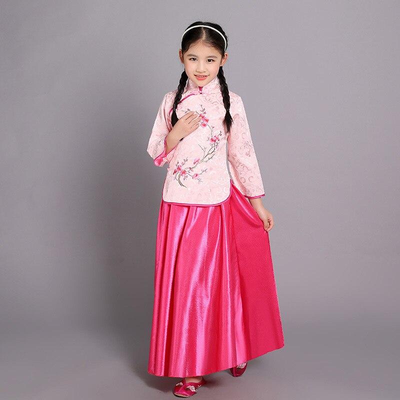 Chinese Girls Han Tang Kids costume  Han Dresses Princess party dresses Cosplay
