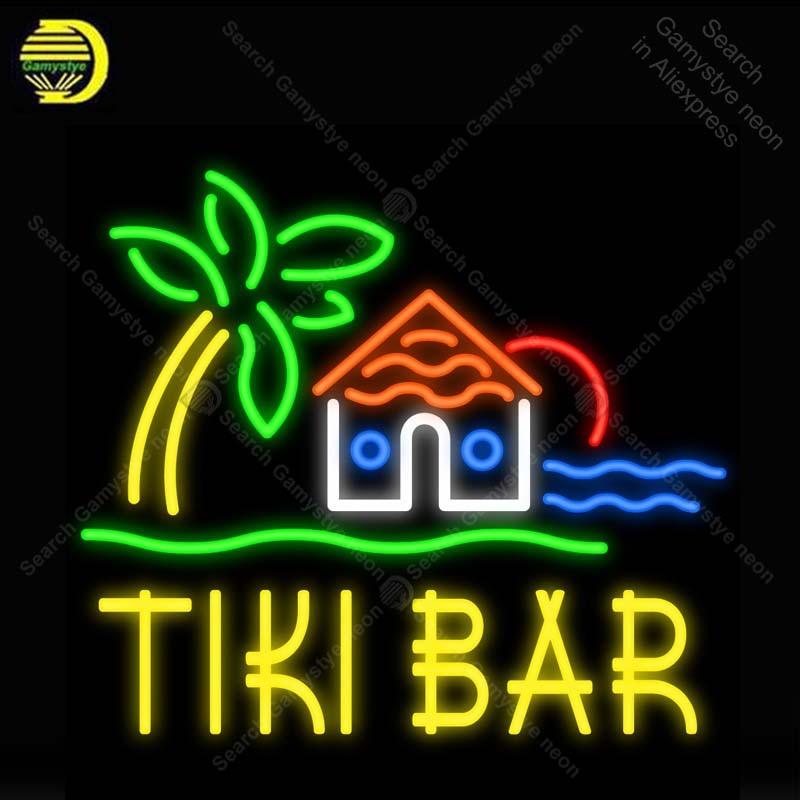 Neon Sign for Tiki Bar Hut House Neon Light Neon Bulb sign Beer Bar Pub handcraft glass tube light Decor lamps neon for sale