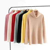 Turtleneck Knitting Pullover Autumn Winter Long Sleeve 2017 Sweater Women Pull Femme Loose Sweaters Crop Top