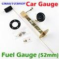 """2"""" 52mm FUEL Gauge Car Meter with Fuel Sensor White LED Light Black Shell Automotive Gauges 12V"""