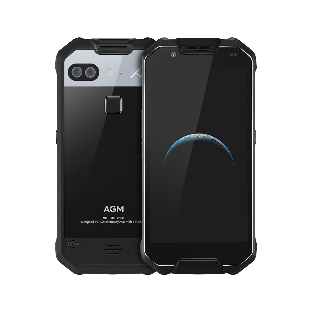 """2017 OFFICIAL NEW RELEASE AGM X2 4G Smartphone Android 7.1 IP68 Waterproof 5.5"""" Octa Core 6000mAh Support VOC Sensor NFC GPS OTG"""