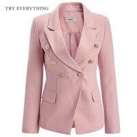 Pink Blazer Women Jacket 2019 Double Breasted Blazer White Women Blazer Jackte Plus Size Blazer Ladies Blazers And Jackets