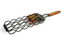 Grilling Basket,GaiaBBQ A105,1 pcs,Non-Stick Adjustable Sausage Grilling Basket