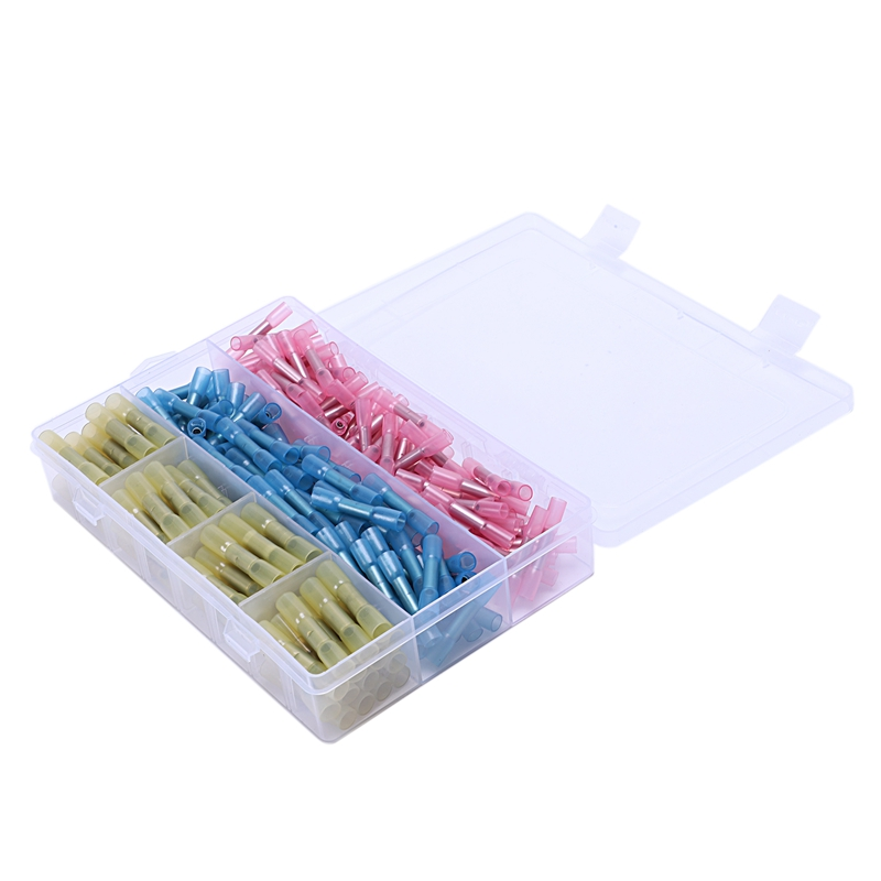 220Pcs 3 Sizes Waterproof Heat Shrink Butt Connectors Electrical Wire Splice Cable Crimp Terminals Connectors Awg 22 10 in Pipe Insulation from Home Improvement