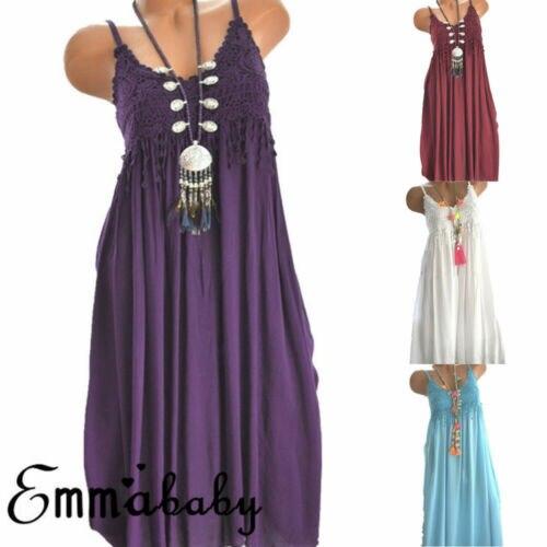 Женское платье с высокой талией Boho, длинное Повседневное платье на бретельках без рукавов, Пляжное Платье для вечеринок, S-XXXL