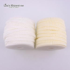 Кружевные двойные полукруглые жемчужные цепи 9 мм 20 м/лот для украшения одежды своими руками VX17