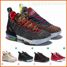 new styles 372fe d8557 2019 New Basketball Shoes For Men 16s Air Zapatos Hombre Stripe Knitting  Basket Sneaker Superstar Red