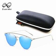 Zuan Mei Fashion Cat Eye Sunglasses Women Brand Designer Retro Polarized Sun Glasses For Women Alloy Frame UV400 Luxury 6 Colour
