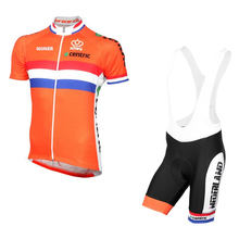 Pro Team netherlands summer mens quick-dry Cycling jersey Dutch flag breathable clothing MTB Ropa Ciclismo Bicycle maillot GEL
