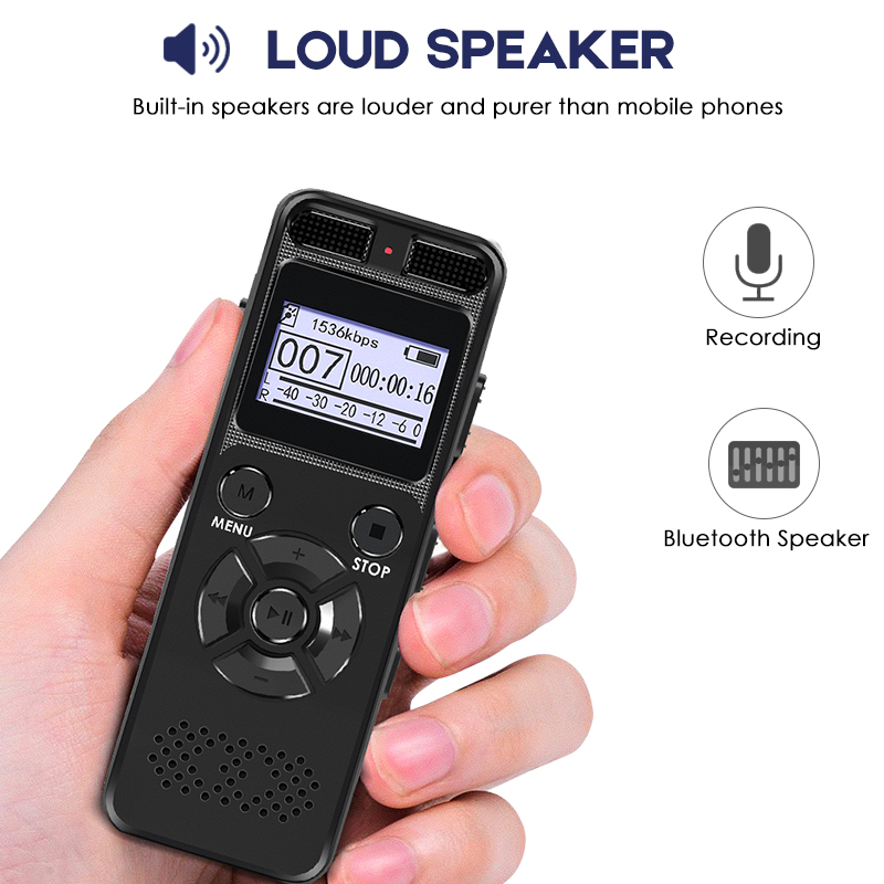 Built-in Mini Speaker Dictaphone Digital Voice Recorder Registrar Audio Video Sound Microphone Support Voice Stealthily Device