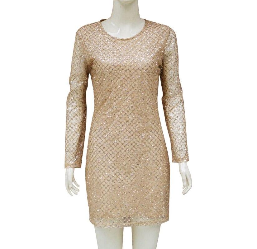 U-SWEAR 2019 Золотое Платье с пайетками, сексуальные платья с длинными рукавами и пайетками, женские облегающие вечерние платья с блестками, вечерние платья для ночного клуба, Vestidos