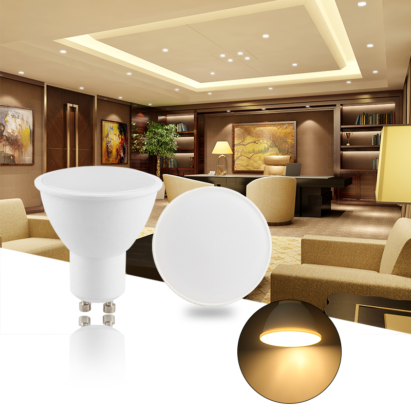 GU10 LED Bulb 6W 220V Led Lamp GU Lampada Condenser lamp Diffusion Spotlight Energy Saving Home Light For Table Lamp spot light ...