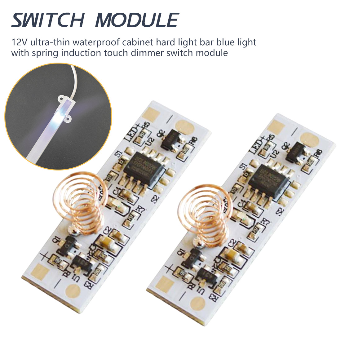 12V LED Light Strip Capacitive Touch Sensor Switch Coll Spring Switch LED Dimmer Contral Swith 36W 3A For Smart Home