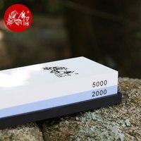 TAIDEA 2000/5000 Grit Outdoor Messerschärfer Korund Schleifstein Doppelseitige Messer Schärfen Stein Outdoor-Tool T0930W