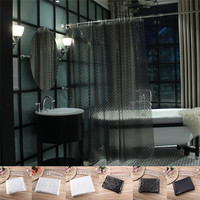 3 Type 180x180cm Transparent Mildewproof Shower Curtain Waterproo Bathroom Curtains Set Accessories Decorations 2 Color