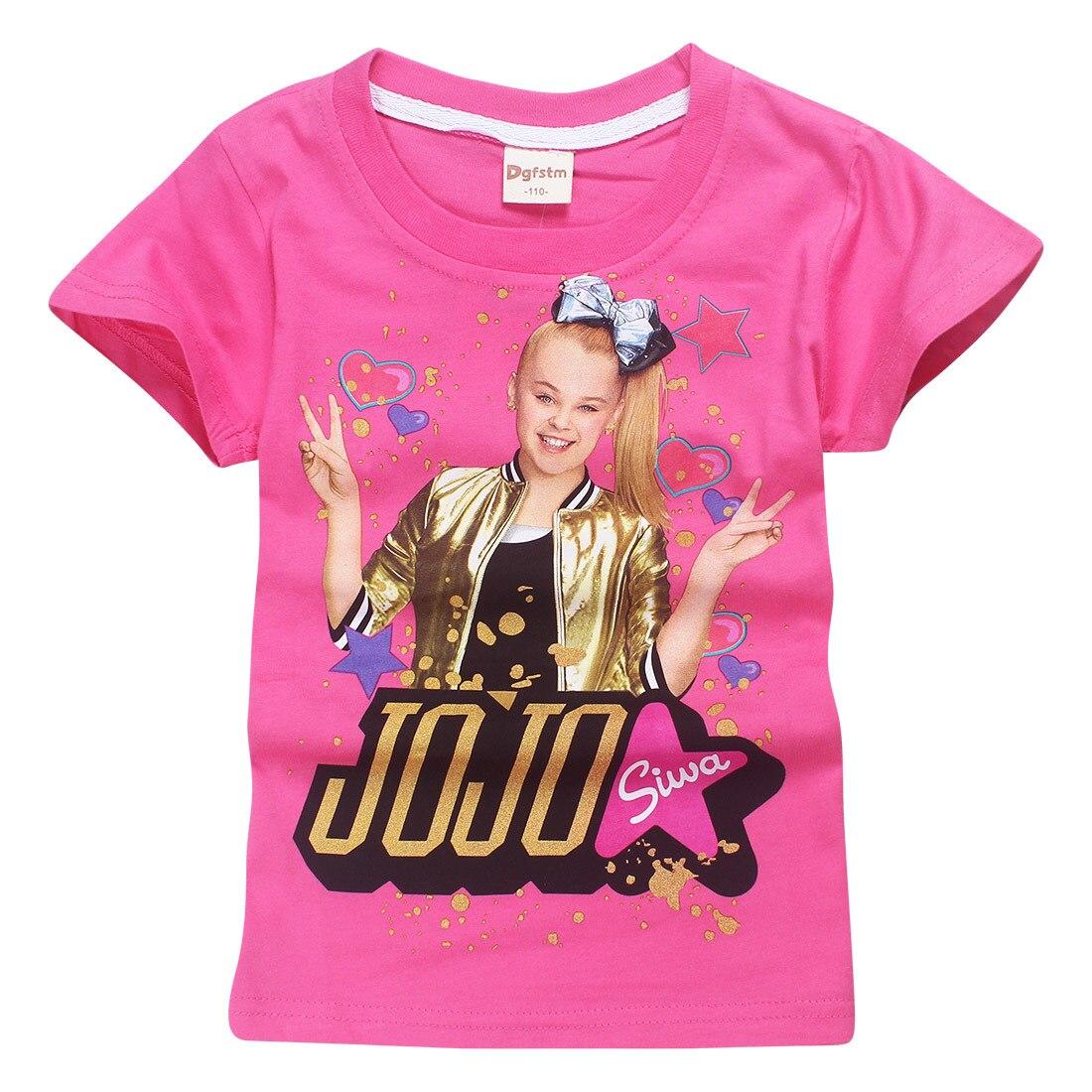 40450188b Bebé JoJo Siwa manga corta Tops traje grande Niñas camisetas para niños  niña blusa T Shirt 100% algodón ropa de verano