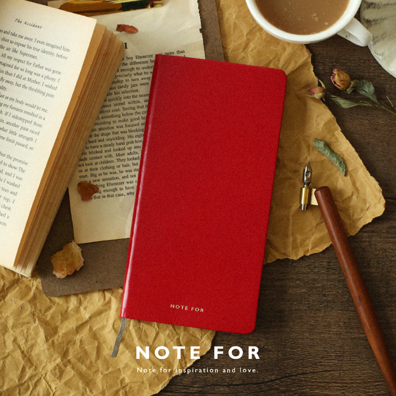 NOTE FOR Classical Slim Weekly Planner Square Notebook PU Leather Cover Portable Travel Journal Diary Book Pocket Notebook Gift