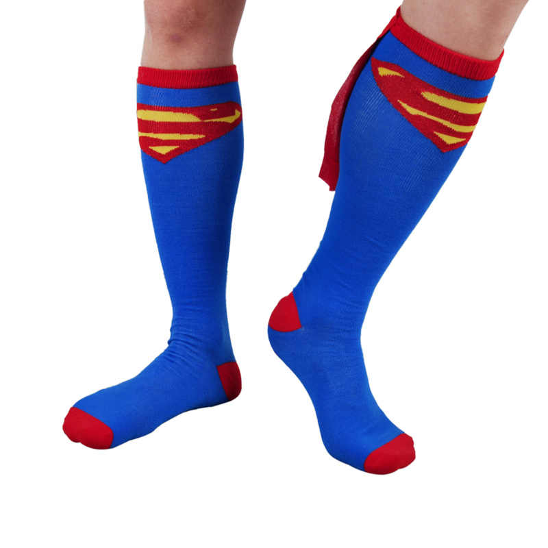 f658bbd826c 1 Pairs Children Superman Batman Baby Boys Girls Kids Cosplay Party Cotton  Socks Classical Man Cartoon