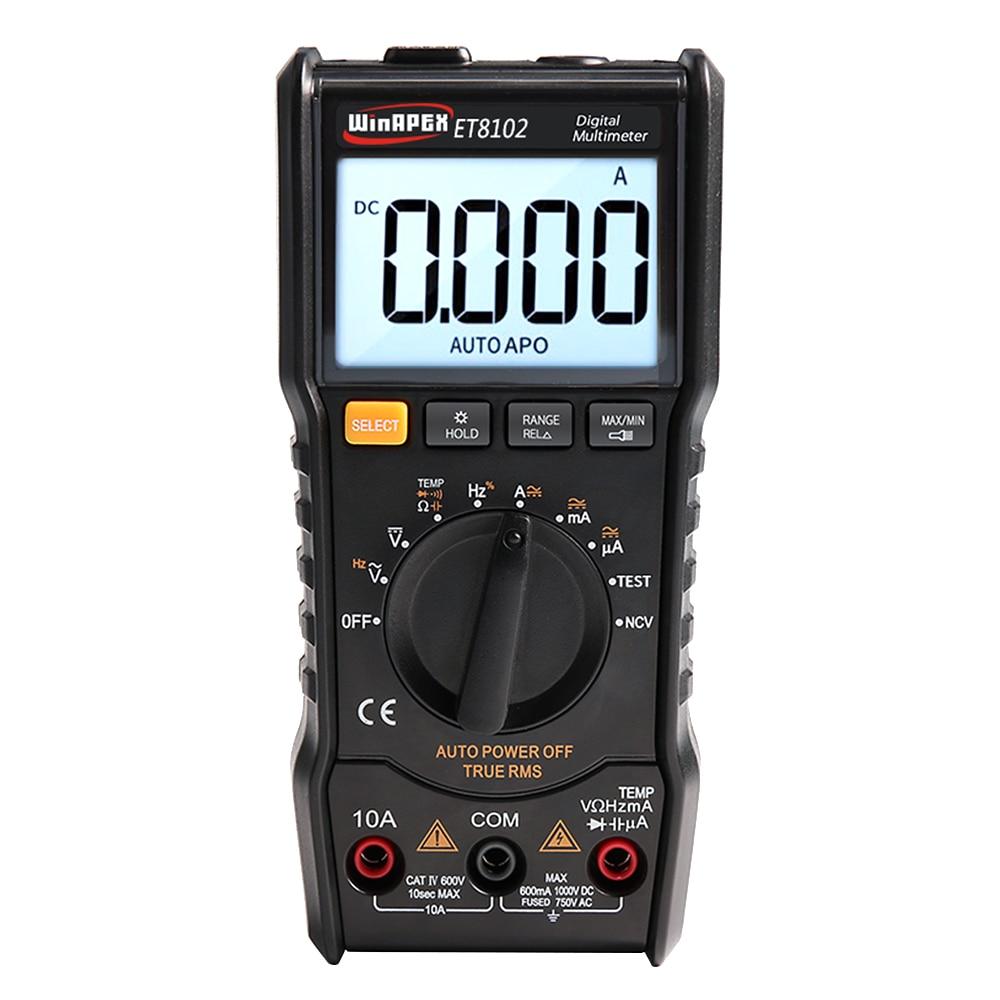 ET8102 Digital-Multimeter Tester 3 5/6 Mini Multimeter AC DC 6000 True RMS Digital Voltmeter 1000 v 10A Tasche Multimeter