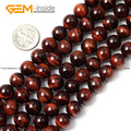 Natural Round Red Tiger Eye Stone Loose Beads For Jewelry Making 8-16mm 15inches DIY Jewellery FreeShipping Wholesale Gem-inside