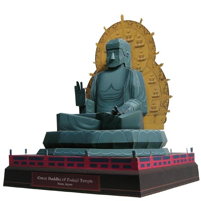 great buddha of todaiji temple japan craft paper model 3d