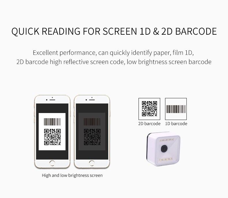 2d 1d qr fixo montar barcode scanner