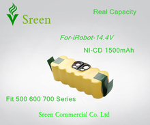 New 14.4V Ni-CD 1500mAh Rechargeable Battery Packs Replacement for iRobot Roomba 500 610 700 Series 80501 530 510 780 770 760(China)
