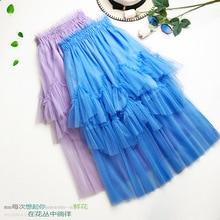 Новая высококачественная Тюлевая юбка милые юбки для женщин Лолита синий