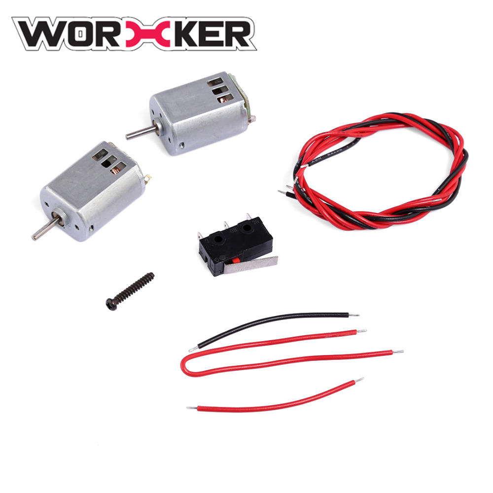 Worker Modified 132 Motor Set Accessories for Nerf STF/CS-18 Rebelle Rapid Red Blaster HyperFire RegulatorECS-10(D Shaft)