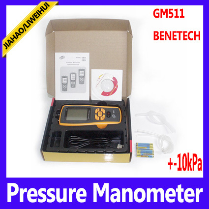 US $600 0 |wholesale pressure gauge calibration high pressure digital  manometer GM511 BENETECH Brand 10pcs/lot -in Pressure Gauges from Tools on