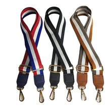 120*3.9cm Bag Straps Nylon Striped Woven Strap for Women Crossbody Shoulder Bags Belt Handbag Adjustable Strap Bag Accessories цена