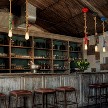 DIY loft retro industrial vintage Steampunk water  Pipe lamp