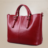 2015 New Tote Bags 100 Genuine Leather Bag Fahion Women Shoulder Bag Lady Messenger Bag Top