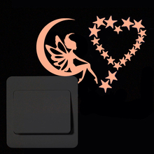 New 3D wall stickers for kids rooms colour Luminous Fairy Star sticker wall sticker decorative stickers home decor living room недорого