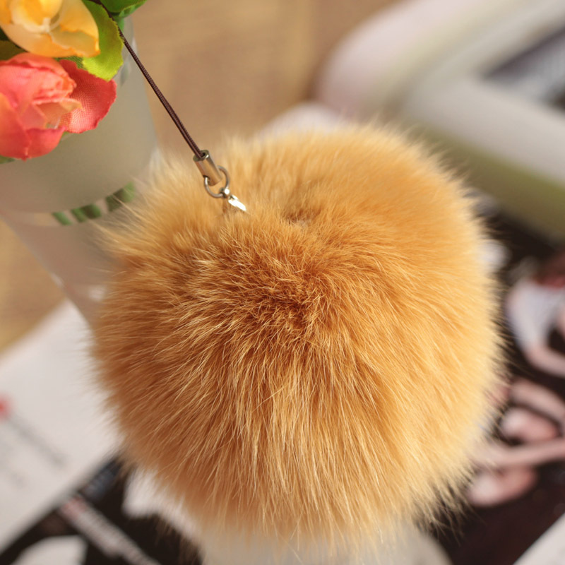 10cm Nature Genuine Fox Fur Ball Pom Pom Fluffy DIY Winter Hat   Skullies     Beanies   Knitted Cap Pompoms DEF005-khaki