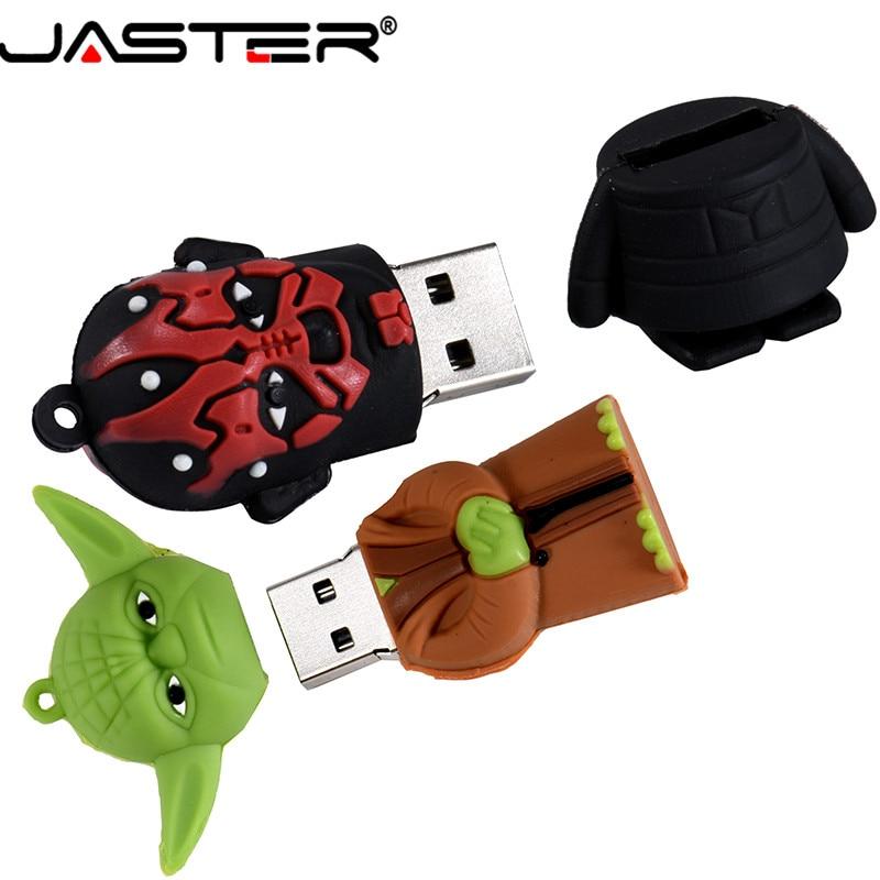 Image 3 - JASTER Usb 2.0 Cartoon Pendrive Star Wars Yoda/Darth Vader Usb Flash Drive 4GB 64GB 16GB 32GB Memoria Usb Gifts Clef Chiavetta-in USB Flash Drives from Computer & Office