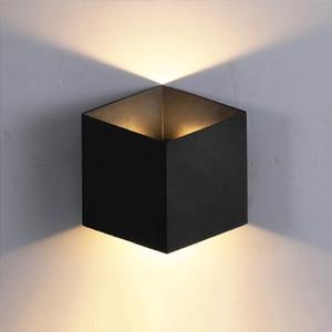 Image 3 - Lámpara LED de pared para interior, candelabro de aluminio moderno, impermeable, para escalera, baño, jardín, porche, dormitorio, espejo