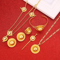 Luxury Ethiopian Fashion Women Eritrean Traditional Jewelry Set Wedding Hair Jewelry Set