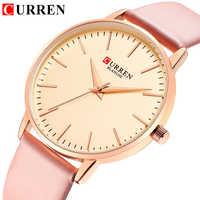 นาฬิกาข้อมือสตรียี่ห้อ CURREN ผู้หญิงนาฬิกาข้อมือหนังควอตซ์หญิงนาฬิกาสุภาพสตรีชุดนาฬิกานาฬิกาผู้หญิงนาฬิกา Relogio Feminino l