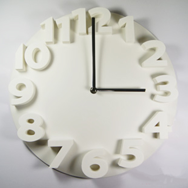 New 3D pointer wall clock for sitting room adornment bedroom stereoscopic modern hang wall clock silent horloges for home decor
